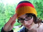 Hetalia Germany Crochet hat by YarnAlchemy
