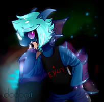 /night wandering and eating and/ by doqboi