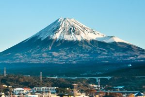 Mt Fuji seen from Shinkansen train, Japan by andrusm