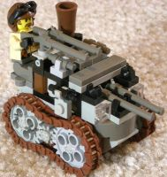 Steam Tankette Mk. XXII (front) by RRaillery