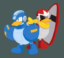 megaduck and protoduck by jinguj