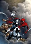 spidey, kraven, bullseye color by deemonproductions