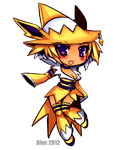 Jolteon Gijinka Chibi by Of-The-Sand