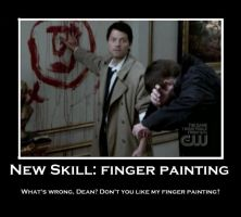 Finger Painting by Castiel7
