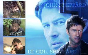 LtCol John Sheppard Wallpaper2 by MoltenTessaract