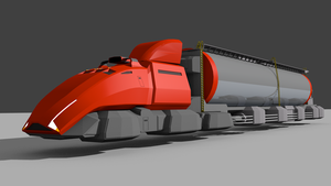 RiftRoamers RPG - AeroTruck with Tank Trailer by riftroamer