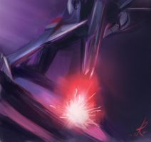 Starscream shooting down an Eradicon by Raikoh-illust