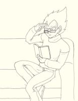 reading Vegeta by GregoryHouse89