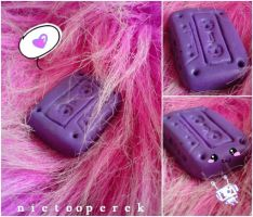 Purple Cassette Pendant by nietOOperek