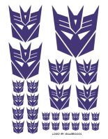 Decepticon stickers by Kenthayle