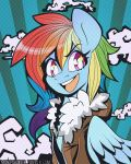 Rainbow Dash 2013 Print by MonstreNoir