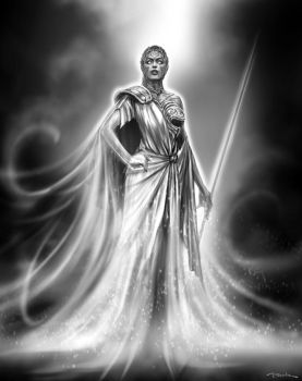 God of War III- Athena by andyparkart