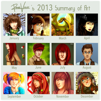 2013 Art Summary - ReneeViolet by ReneeViolet