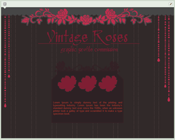Vintage Roses | simple custom graphic commission by BluAjisai