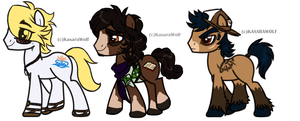 A Bunch O Stallions by KasaraWolf