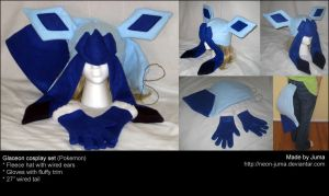 Glaceon cosplay set by Neon-Juma