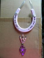 Pink/Purple Lucky Horseshoe by Rising-High-Ranch