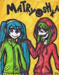 Matryoshka -Hatsune Miku and Gumi- by MidnaCookies1425