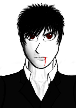 Dave the Angsty Vampire by yrzael