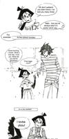Karin and Lincoln little comic 4 by crazygrin