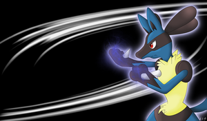 Lucario wallpaper by ShenWooo