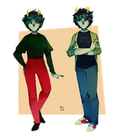 Male Kanaya/Male Vriska by Blue-Space-Muffin