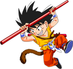 kid goku colored 2 by Ninja-pineapple