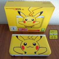 Limited edition Pikachu 3DS XL by Gallade007