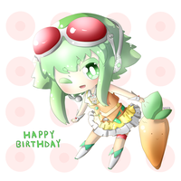Commission: Chibi Vocaloid Gumi by nkein