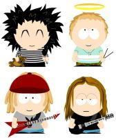 Tokio Hotel goes South Park by purplesockprincess