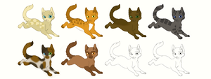 Cat Adoptables (5 points each) -OPEN- by Bay-fire