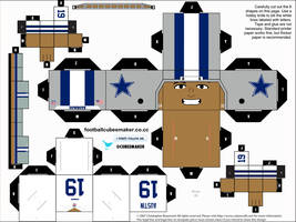 Miles Austin Cowboys Cubee by etchings13