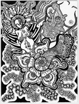 Doodle: Henna and Deities. by copperrein