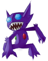 Sableye sketch 'n color by ChimeraReiax