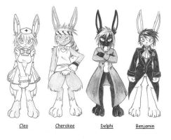 Fursonadroids Characters by ShadOBabe