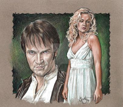 True Blood Bill and Sookie by scotty309