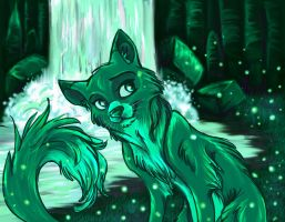 Green Fox by sharkie19