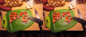Stereograph - Cut Tomatoes by alanbecker