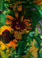 Sunflower  love  LProctor by LaurieLefebvre