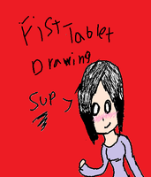 First Tablet Drawing by riancattlove