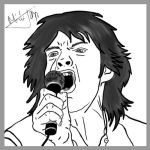 Mick Jagger by Tajki