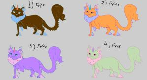 Adoptable Cattuscorns free set 4 SOLD by Feendra13
