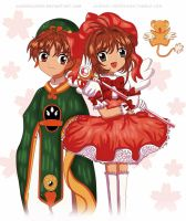CCS - Sakura and Syaoran - Fanart by Jamiisol2000