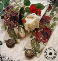 Packed Floral Red Cuff x2 by GoodQuillHunting