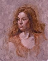 Rachelle from life: Day One 11x14 Oil on Canvas by BClary