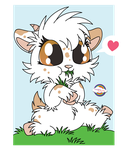 Cute Goat Snacking by Daieny