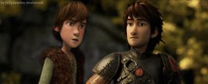 Adult Hiccup and Young Hiccup! by jellybreaker
