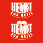 Heart for Music Logo #1 by JezArtz