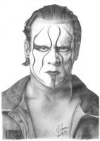 TNA Sting Pencil Drawing by Chirantha