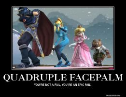 Old Demotivational Poster: Quadruple Facepalm by AlphaMoxley95